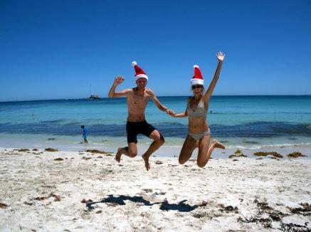 Sur la plage de Hamelin, Australie