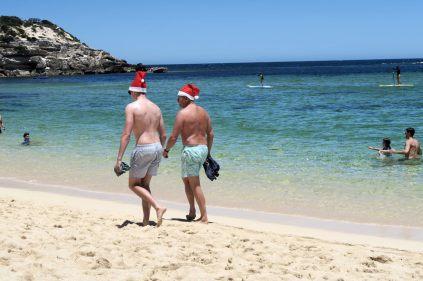 A la plage de Gnarabup, ambiance de Noel pour le 25/12 !