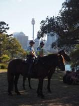 Police montée dans les jardins botaniques