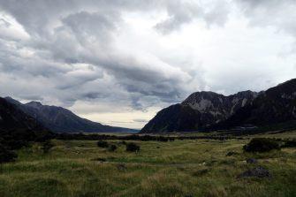 La vallée de la Hooker River, puis plus loin de la Tasman River