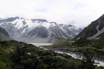 """Sur la """"Hooker Valley Track"""" vers le glacier"""