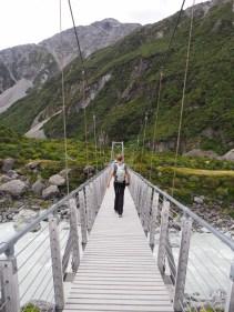 """Un des trois ponts suspendus de la """"Hooker Valley Track"""""""