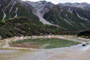 "Un des ""blue lake"" au glacier Tasman"