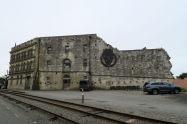 Dans les vieux bâtiments le long du port d'Oamaru