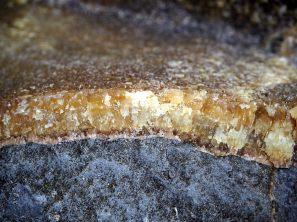 Détail des couches de roches