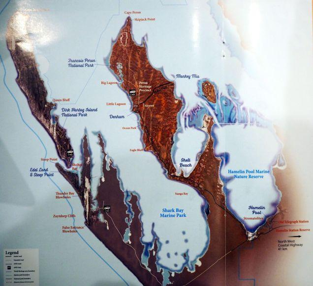 Carte de Shark Bay