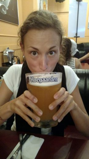 Une énorme bière, ca fait du bien de temps en temps ;)