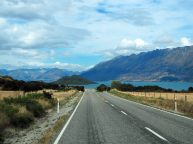 Sur la route depuis Glenorchy (vue sur Pigeon Island)