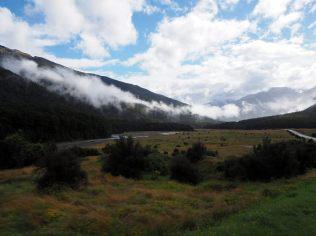 Sur la route vers la côte Ouest depuis Wanaka