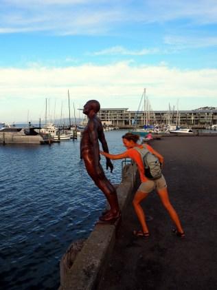 Sur le port de Wellington, près des Docks