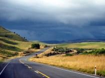 Sur la route vers le Tongariro National Park