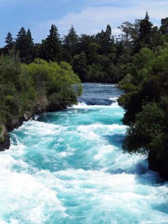 Les Huka falls (en amont)