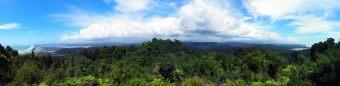 Vue depuis le sommet de la randonnée de Okitika