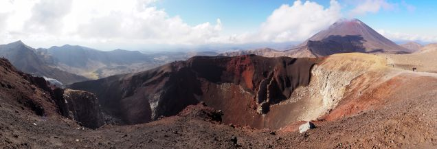 Panorama du Mont Ngauruhoe et du Red Crater