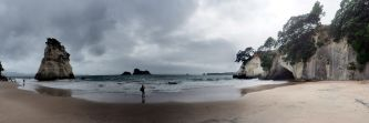 Cathedral Cove Panorama