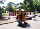Sculpture de Patoruzito et de Isidorito, des personnages créés par l'artiste Dante Quinterno