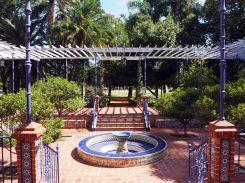 Patio Andaluz, au Parque del Rosedal (parc de la roseraie), dans les jardins de Palermo, Buenos Aires