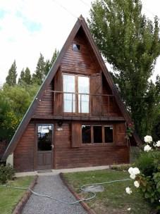 Devanture d'une maison typique de patagonie