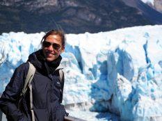 Elise devant le glacier Perito Moreno
