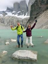 Nous sommes bien contents d'etre arrivés jusque là, et ce ne fut pas de tout repos... Base des Torres, Parc National Torres Del Paine