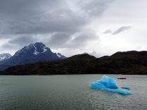 Un joli petit iceberg perdu sur le lac Grey... ah non pas si petit que ça en fait ! Parc National Torres Del Paine