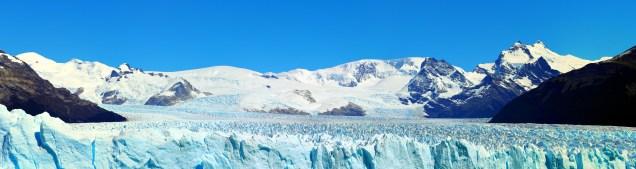 Panorama sur le dessus du Perito Moreno