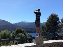 Julien en train de photographier le Lago Villarino