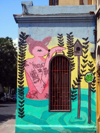 Dans les rues de Santiago du Chili
