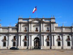 Le Palacio La Moneda (siège de la présidence du Chili, à Santiago