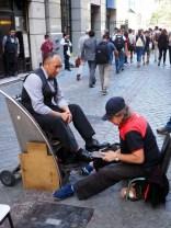 Cireurs de chaussures dans Santiago