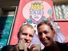 """Un petit """"pisco sour"""" à la fin d'un """"free walking tour"""" à Valparaiso"""