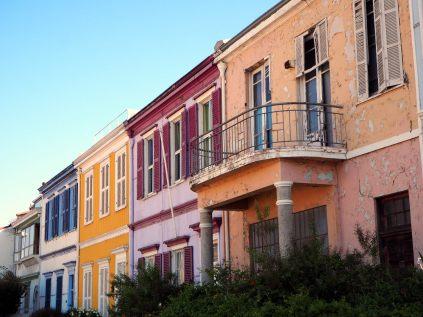 Maisons de couleurs en haut du cerro Concepcion