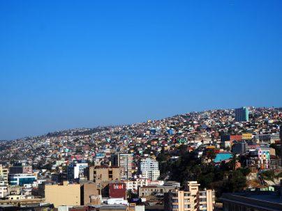 Vue sur les collines de Valparaiso