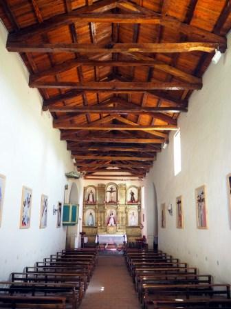 L'église de Molinos, avec son toit en bois de cactus