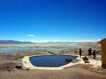 Admirez le cadre de la baignade à las Aguas Termales de Polques