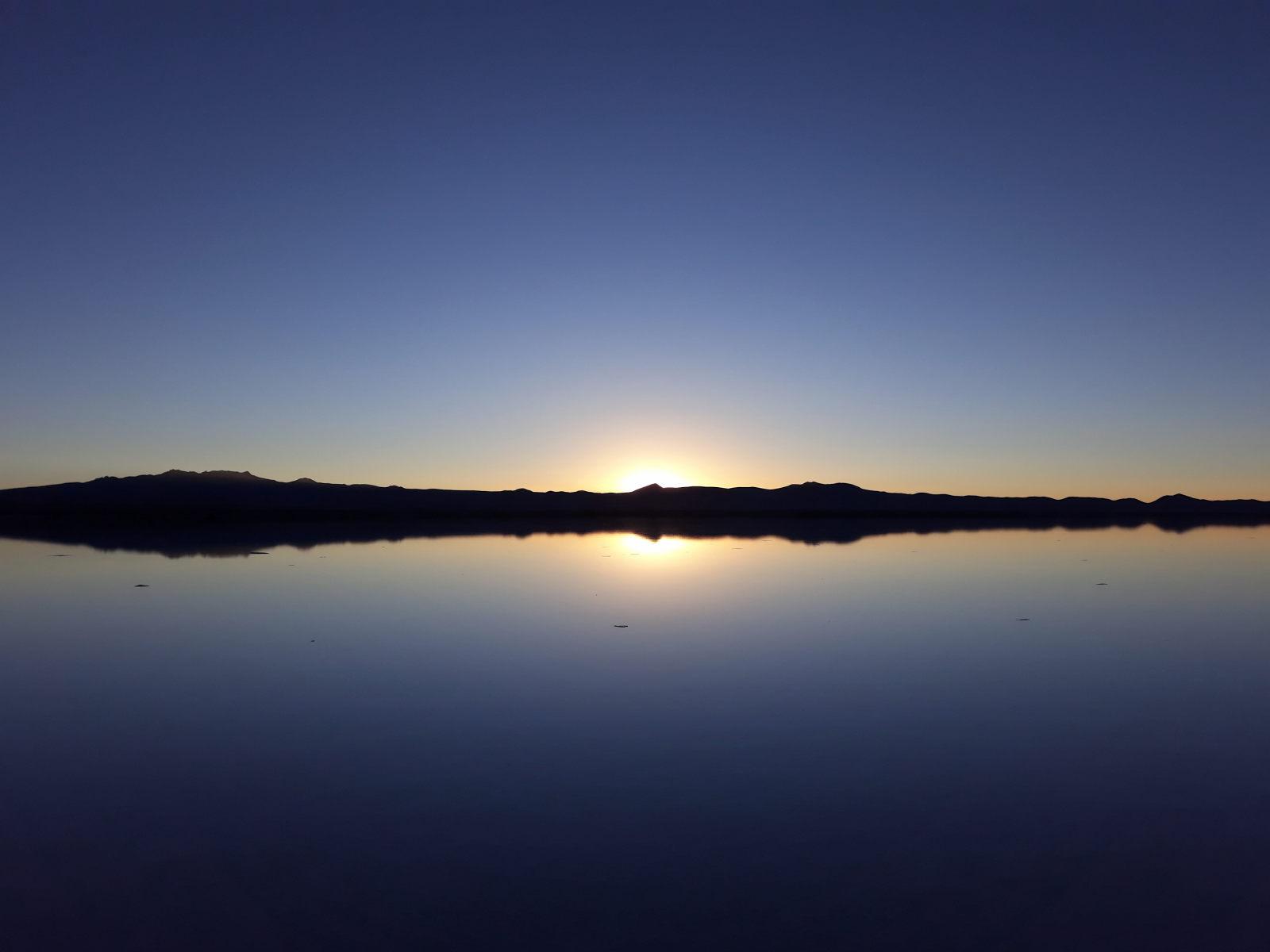L'horizon du salar d'Uyuni