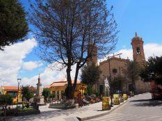 Sur la Plaza de Armas de Potosí, avec la cathédrale en arrière plan
