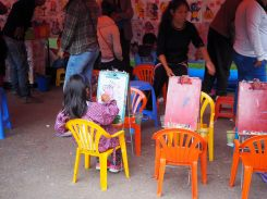 Activités pour enfant au parc Simon Bolivar, Sucre