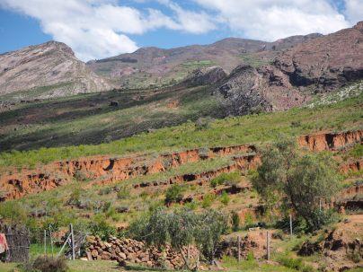 La boue (et son effritement) qui caractèrise bien le parc de Toro Toro