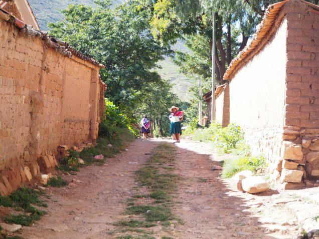 Dans les ruelles du village de Toro Toro