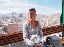 Dans le téléphérique, à La Paz
