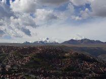 Vue sur le Huayna Potosi, montagne de la cordillère Orientale, culminant à 6088m