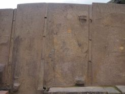 Site archéologique Inca de Ollantaytambo. Ici des blocs de plusieurs tonnes indiquent les vestiges probable d'un tempe