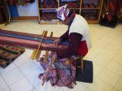 Démonstration de techniques traditionnelles de tissage, Cuzco