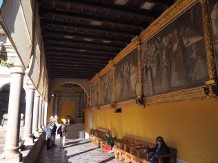 A l'intérieur de l'église de Santo Domingo (construite sur le temple du soleil) à Cuzco