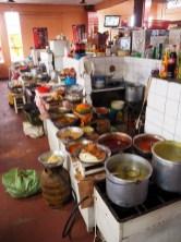 Stands de nourriture dans les marchés
