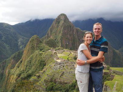 Portrait devant le site du Machu Picchu