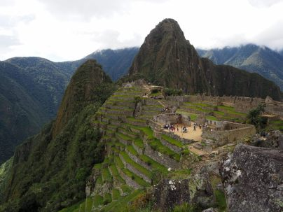 Terrasses de la partie agricole du site du Machu Picchu
