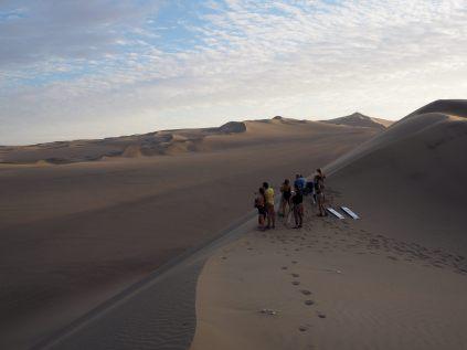 Point de départ d'une descente en sandboard