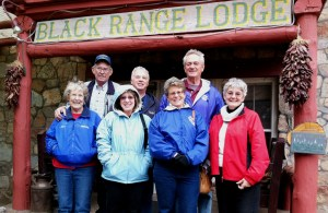 On our day off, we took the opportunity to go to breakfast at a B & B, the Black Range Lodge (est. late 1800's), in the Black Range mountains about 30 miles SE of T or C. Don and Arlene, on-site SOWERs, joined us and a good time was had by all.